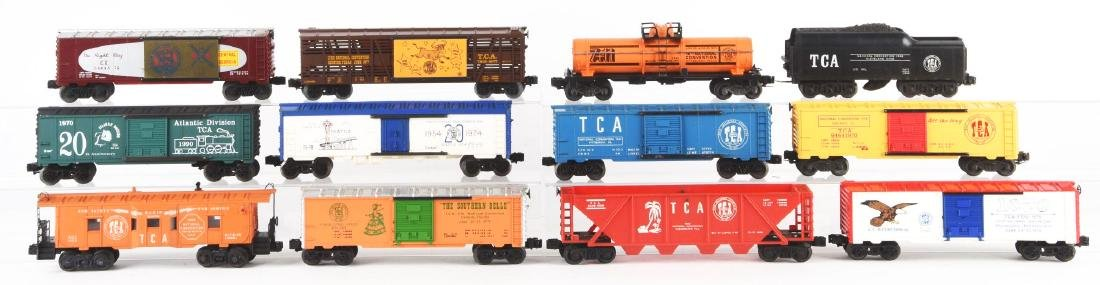 Lot Of 12: Lionel TCA Convention Cars and a ZW