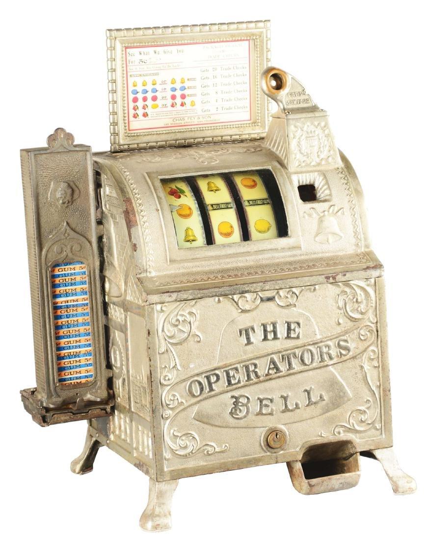 **5¢ Mills/Fey Revamp Operators Bell Slot Machine With