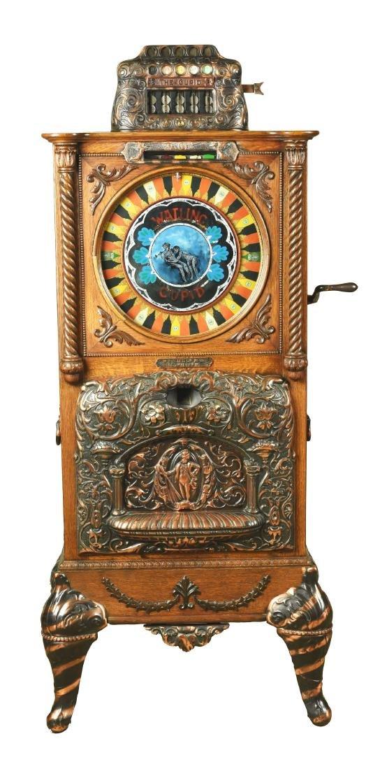 **5¢ Watling Mfg. Co. Cupid Upright Slot Machine.