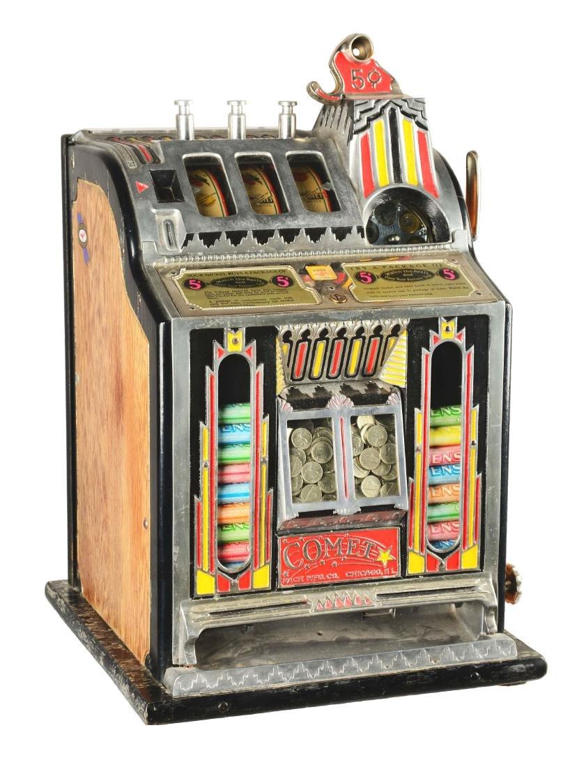 **5¢ Pace Comet Front Vender Slot Machine.