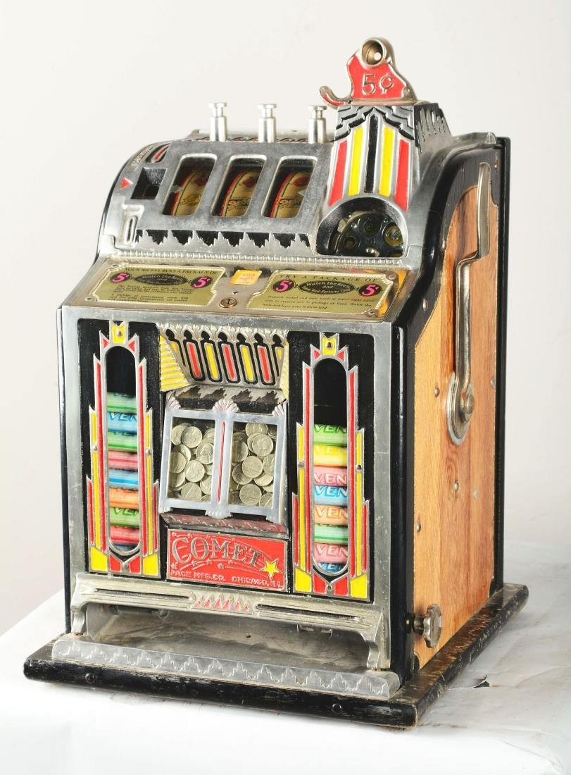 **5¢ Pace Comet Front Vender Slot Machine. - 2