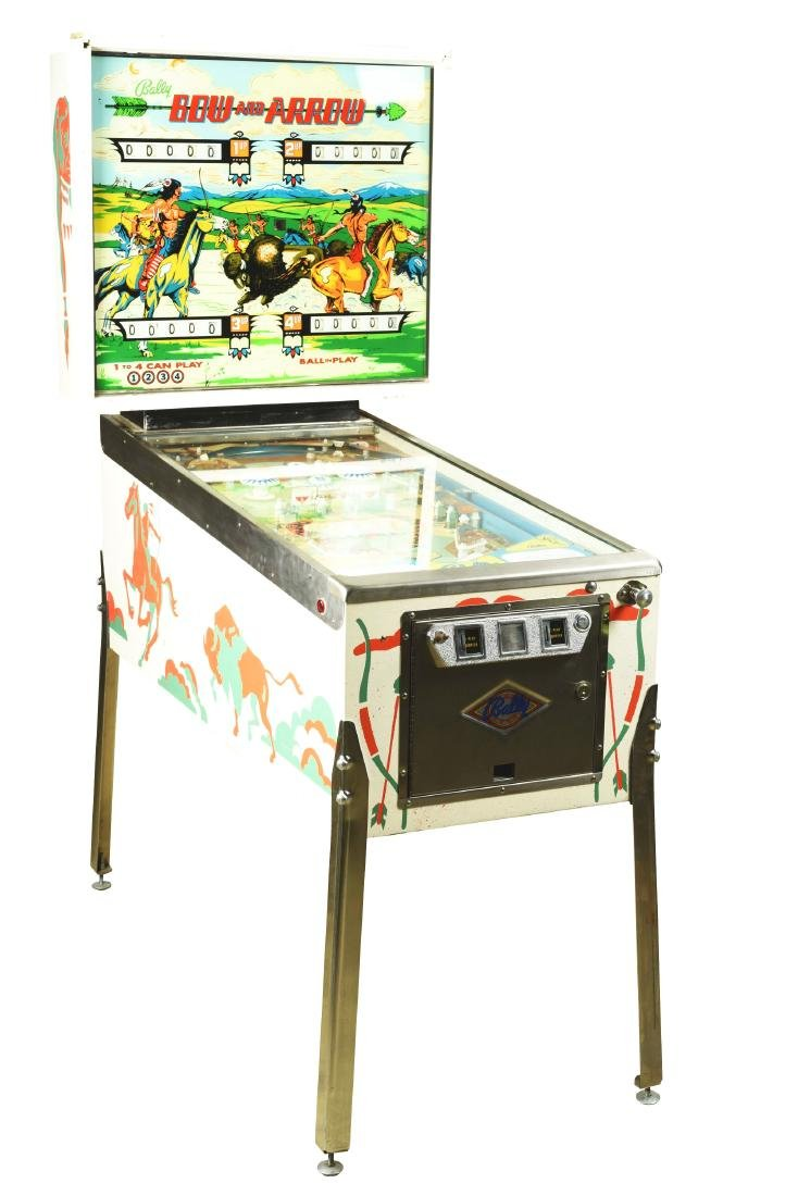 25¢ Bally's Bow And Arrow Pinball Arcade Machine.