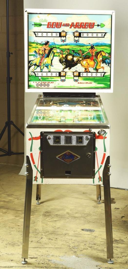 25¢ Bally's Bow And Arrow Pinball Arcade Machine. - 2