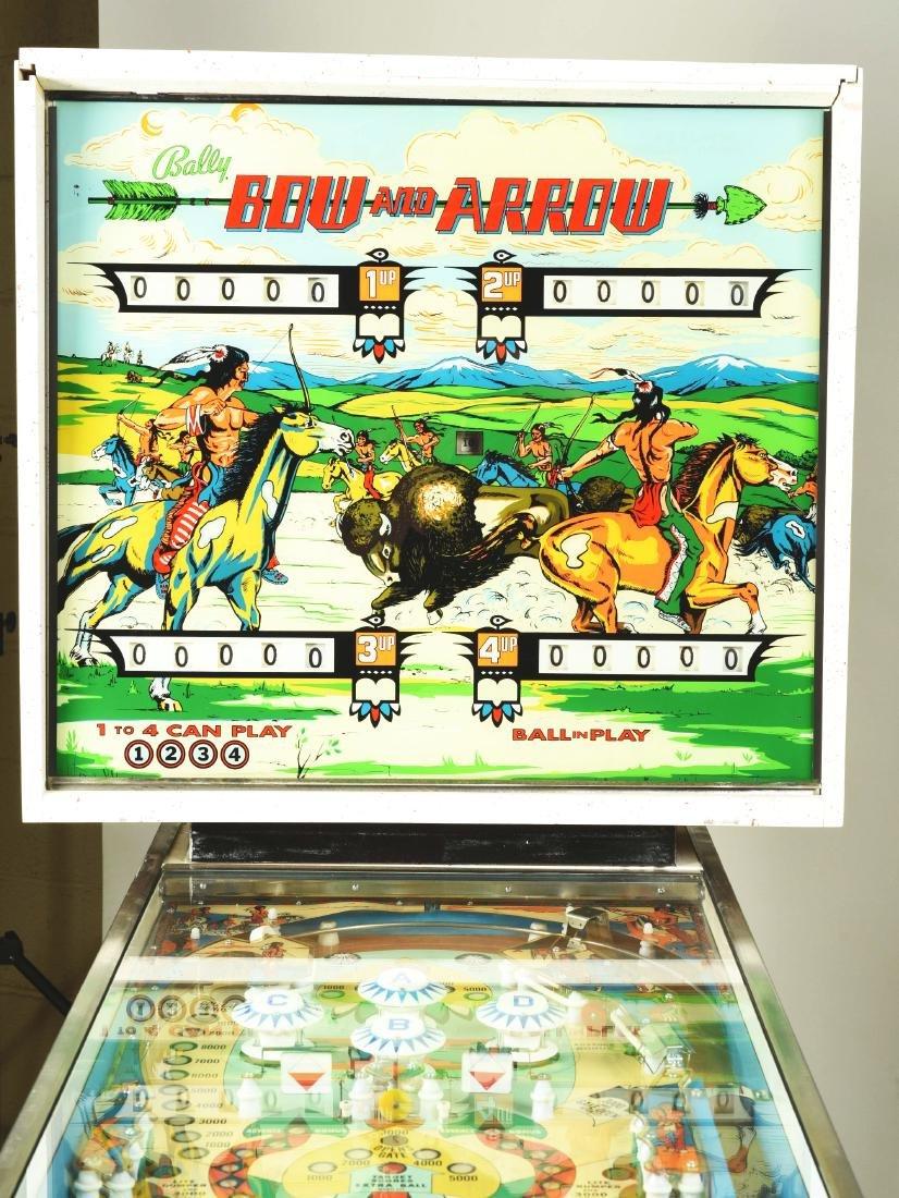 25¢ Bally's Bow And Arrow Pinball Arcade Machine. - 3
