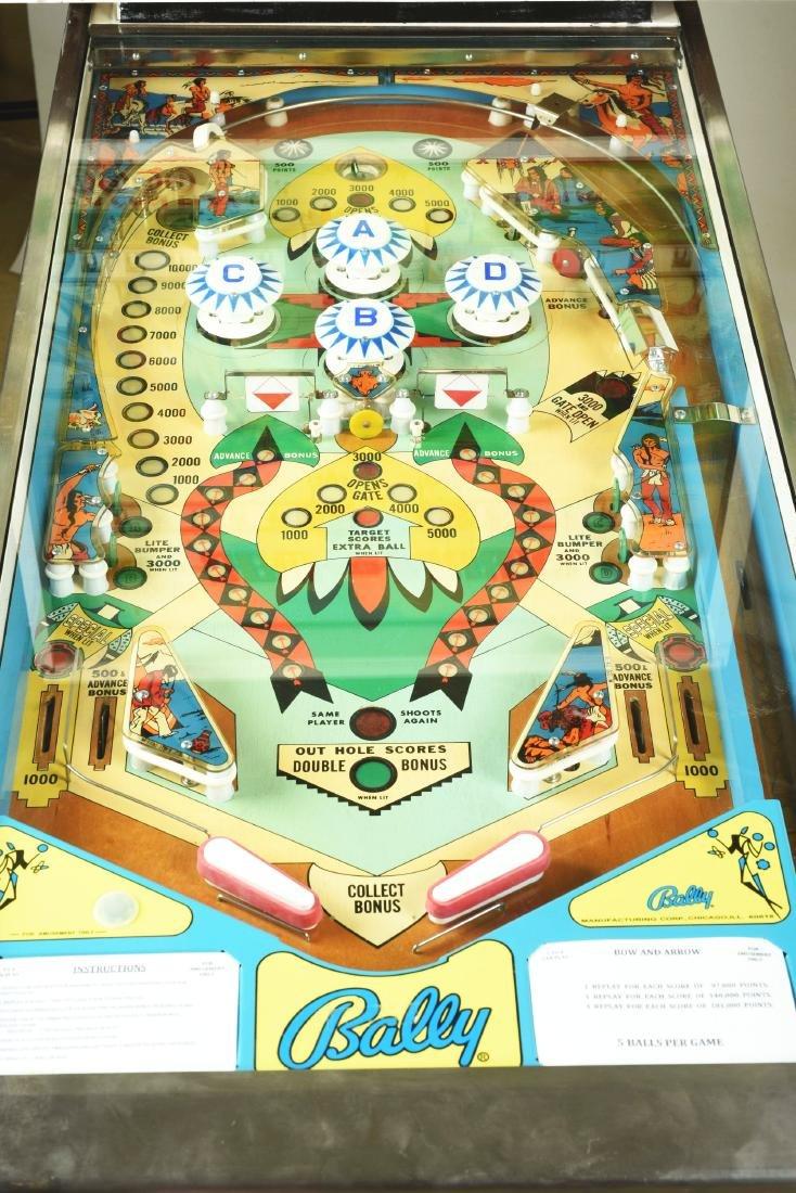 25¢ Bally's Bow And Arrow Pinball Arcade Machine. - 4
