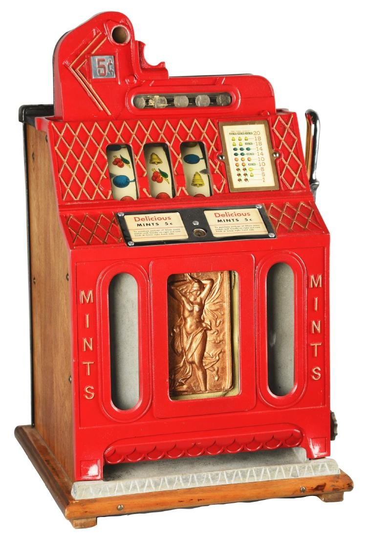 **5¢ Mills Front Mints Vender Slot Machine.