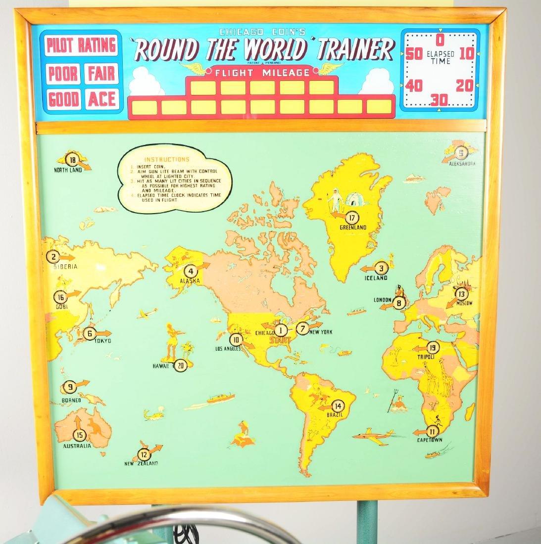 10¢ Chicago Coin Round The World Trainer Arcade - 3