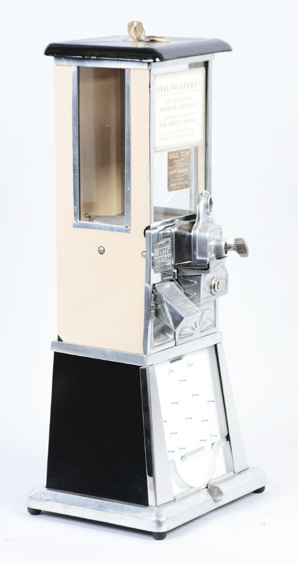 1¢ The Master Beige Gumball Vending Machine. - 2