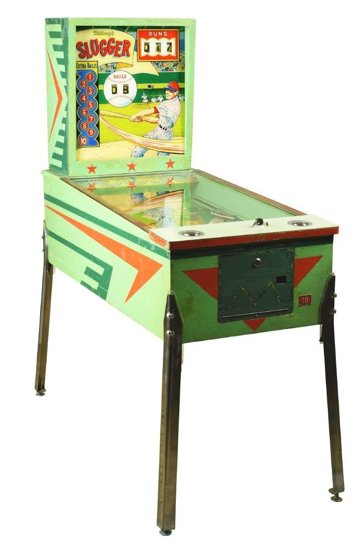 10¢, 25¢ Midway's Slugger Pinball Arcade Machine.