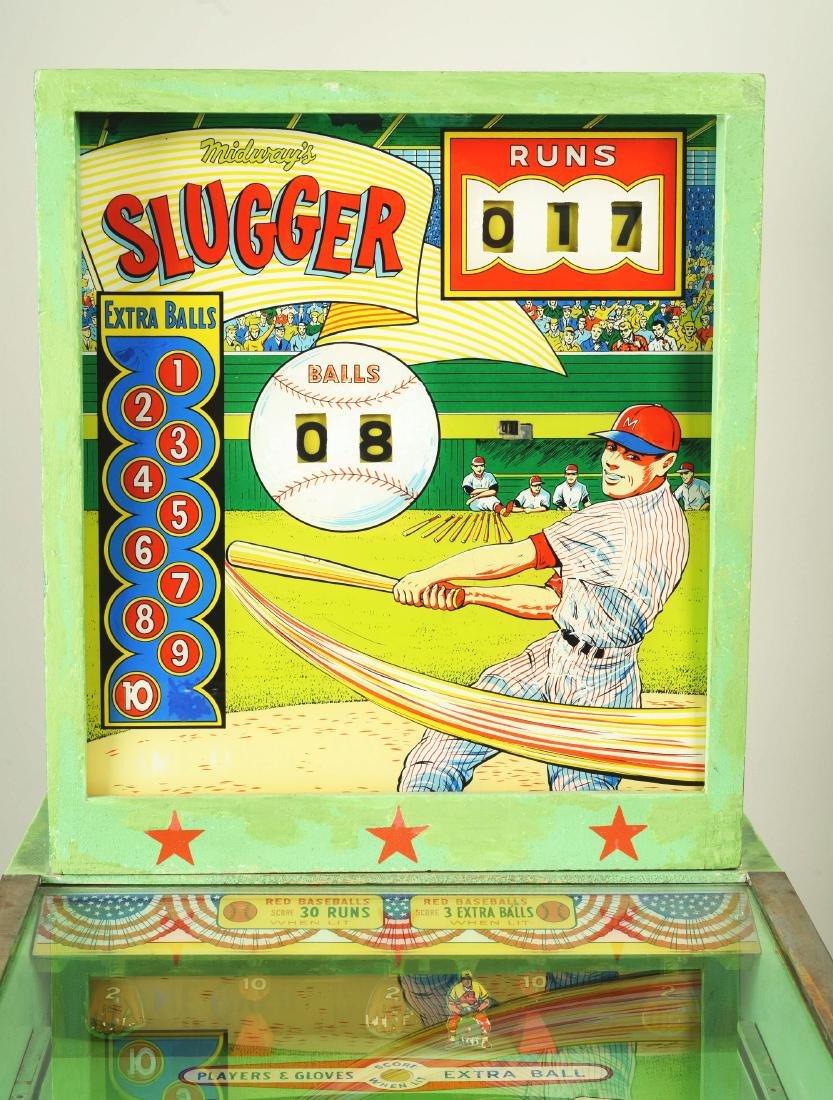10¢, 25¢ Midway's Slugger Pinball Arcade Machine. - 2