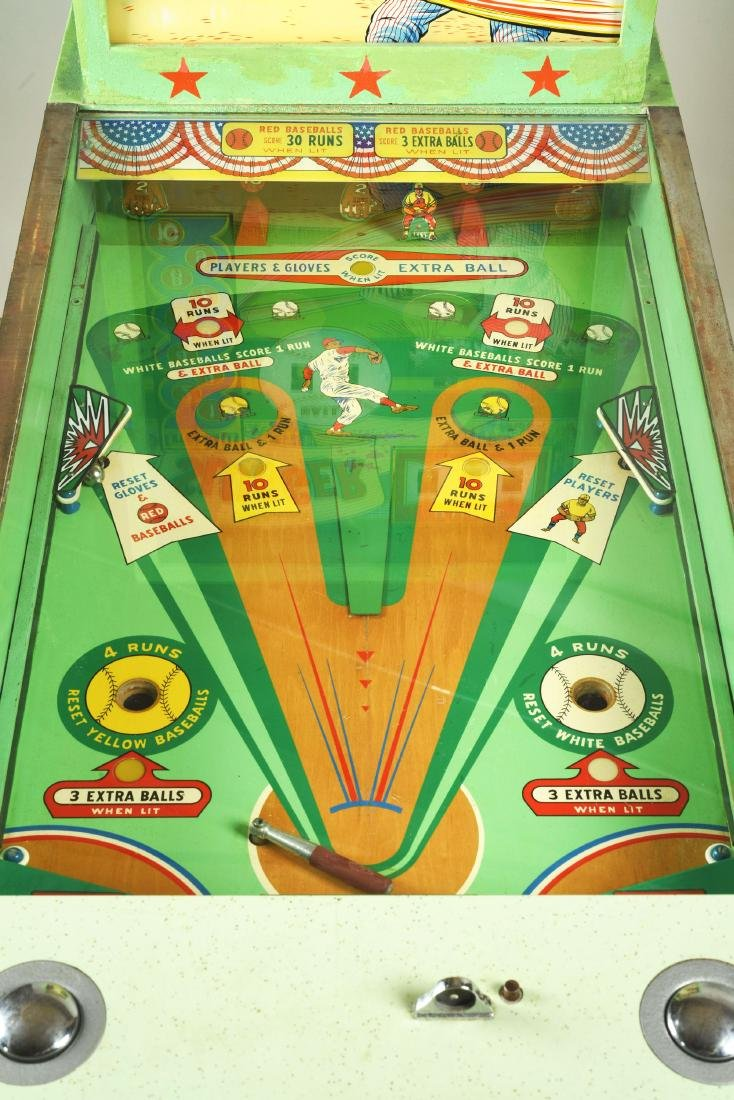 10¢, 25¢ Midway's Slugger Pinball Arcade Machine. - 3