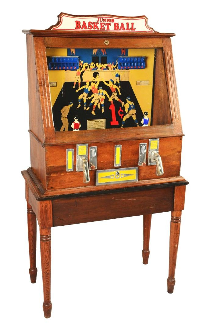 1¢ C.D. Fairchild's Junior Basketball Arcade Machine