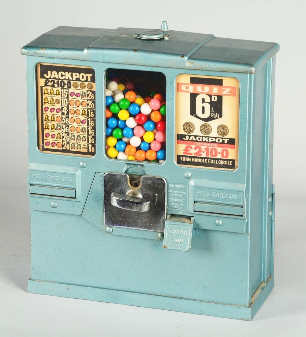 **1¢ Brabo Oak Premiere Gum And Card Vendor. - 2