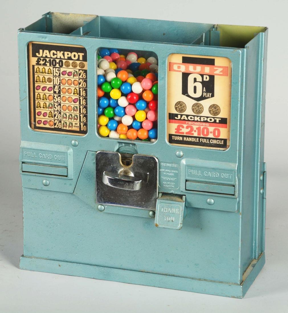 **1¢ Brabo Oak Premiere Gum And Card Vendor. - 3
