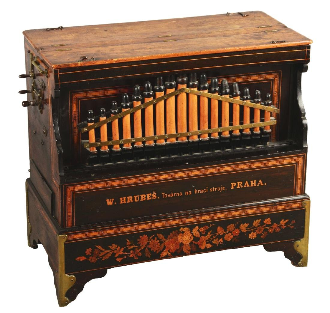 Mechanical Organette Music Box.