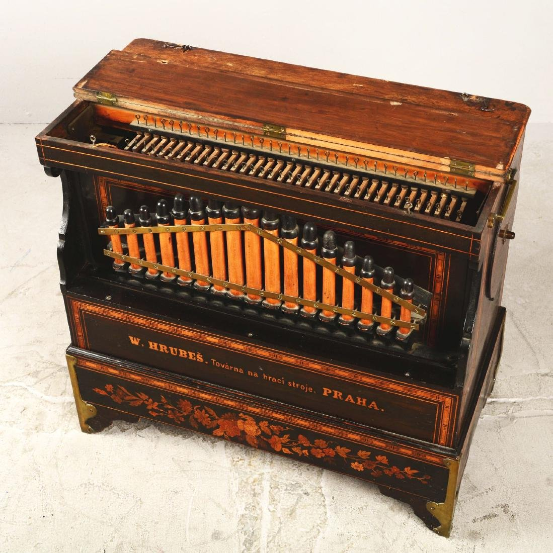 Mechanical Organette Music Box. - 3