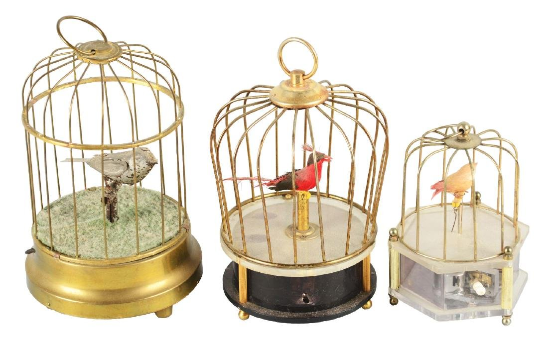 Lot Of 3: Mechanical Birdcages.