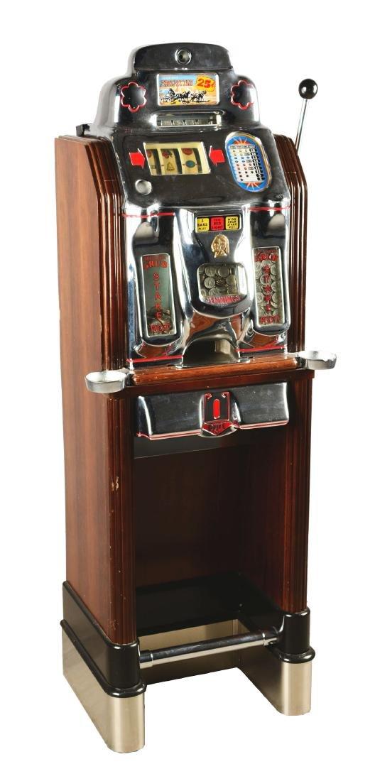 **25¢ O.D. Jennings Prospector Console Slot Machine.