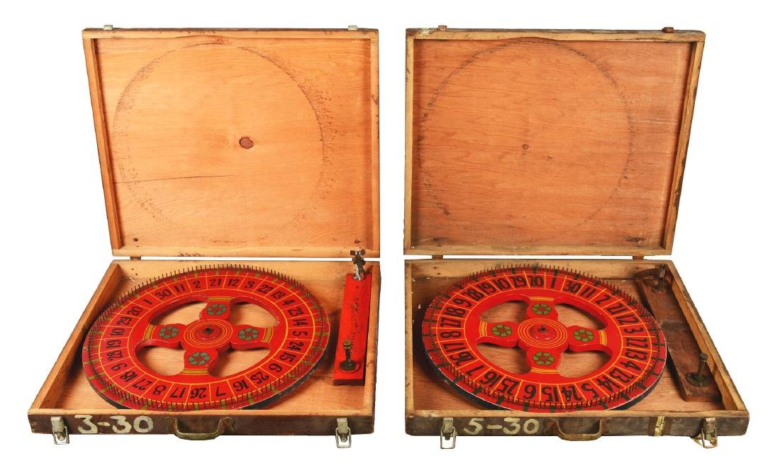 Lot Of 2: Gambling Wheels In Crates.
