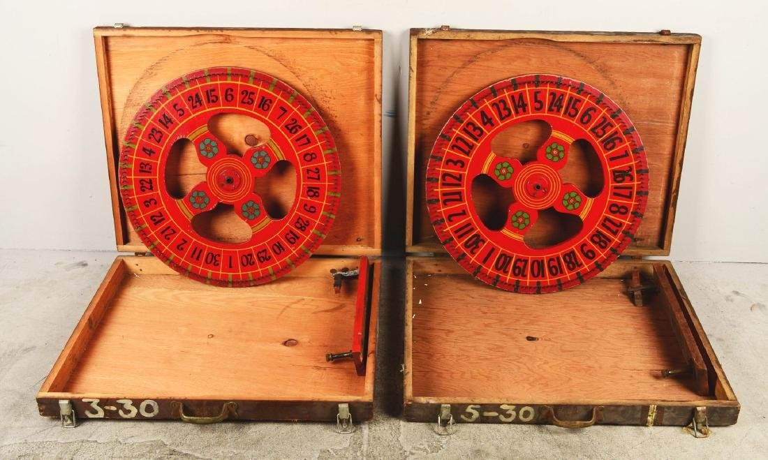Lot Of 2: Gambling Wheels In Crates. - 3