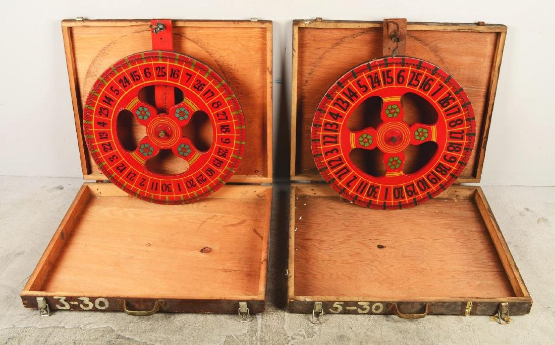 Lot Of 2: Gambling Wheels In Crates. - 4