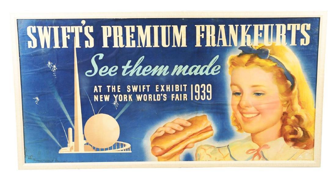 Swift's Premium Frankfurts Advertising Poster.