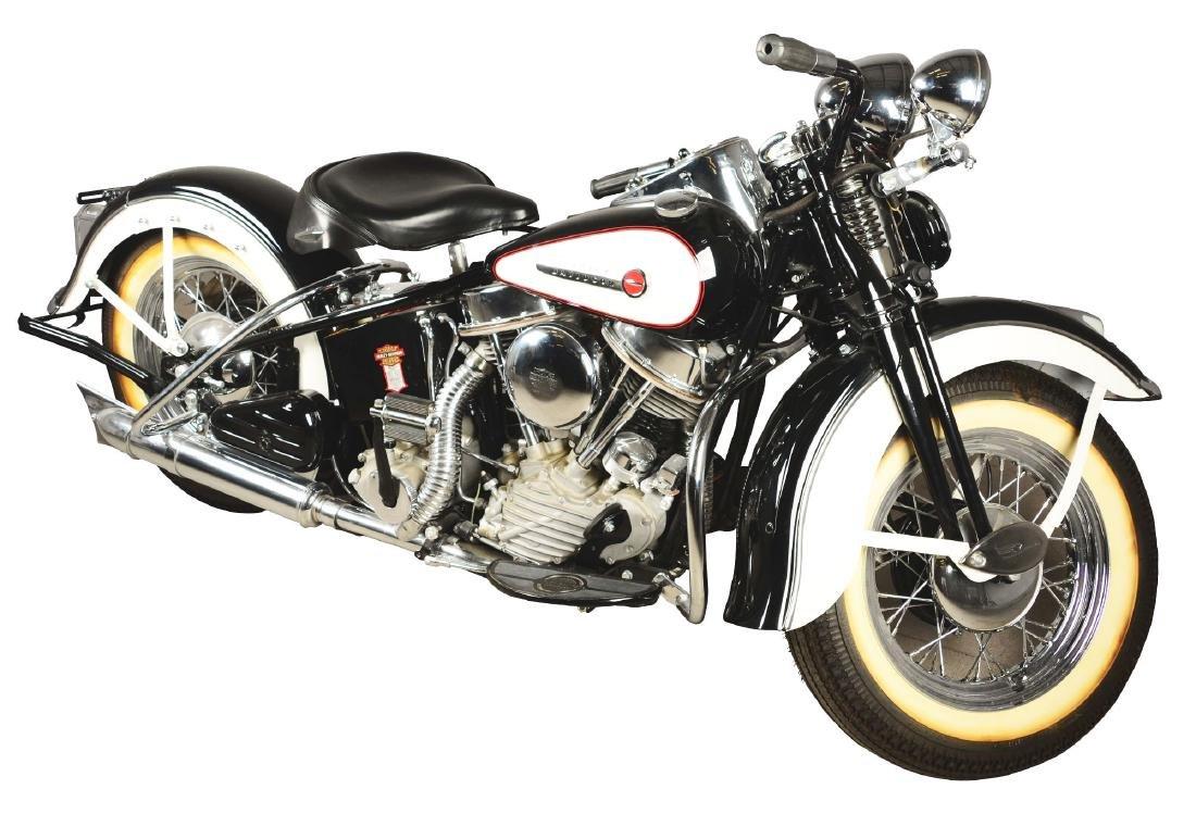 1948 FL Panhead Harley Davidson Motorcycle.