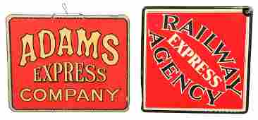 Lot Of 2: Heavy Cardboard Railroad Signs.