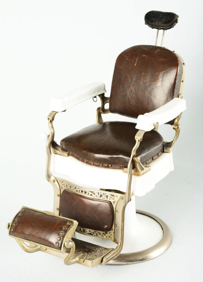 Salesman Sample Koken Barber Chair. - 2