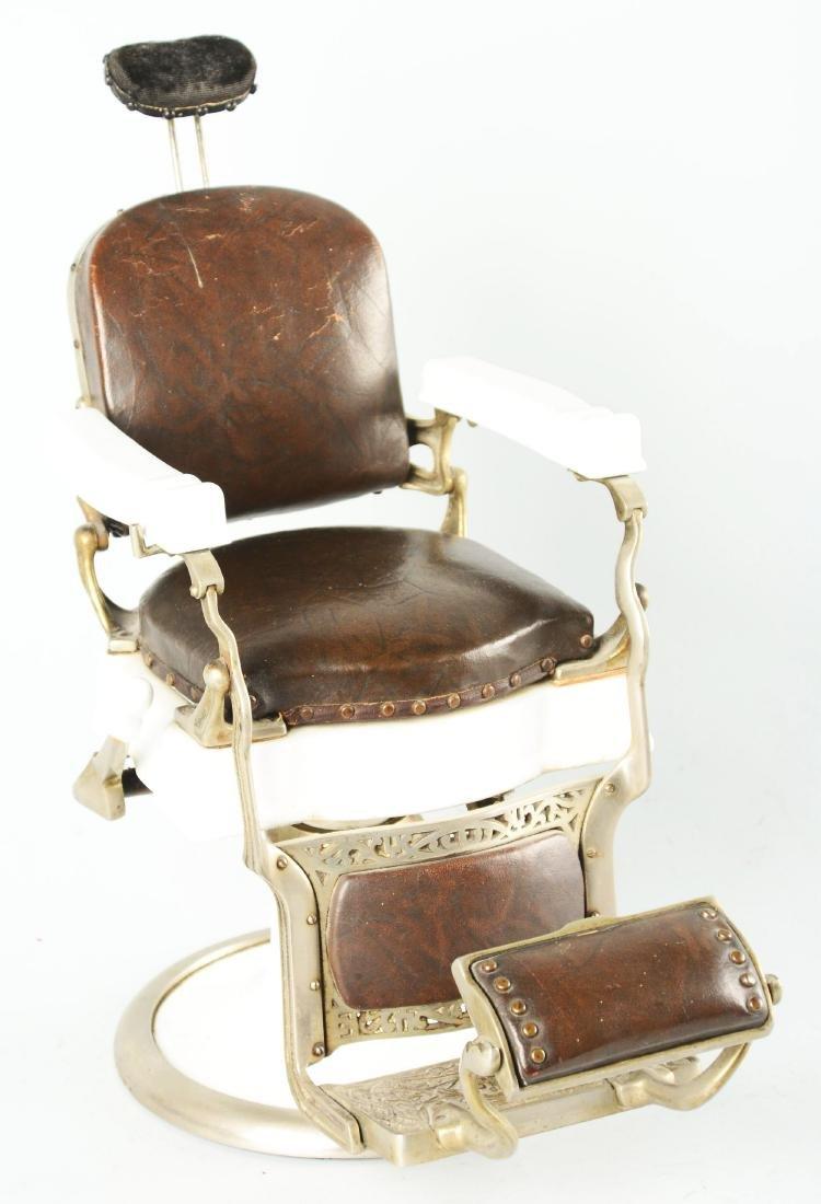 Salesman Sample Koken Barber Chair. - 5