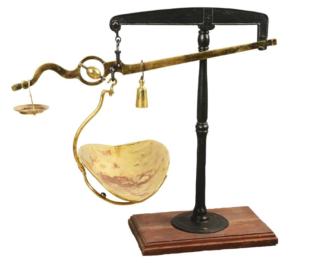 G. Muennighaus Brass Weighing Scale.