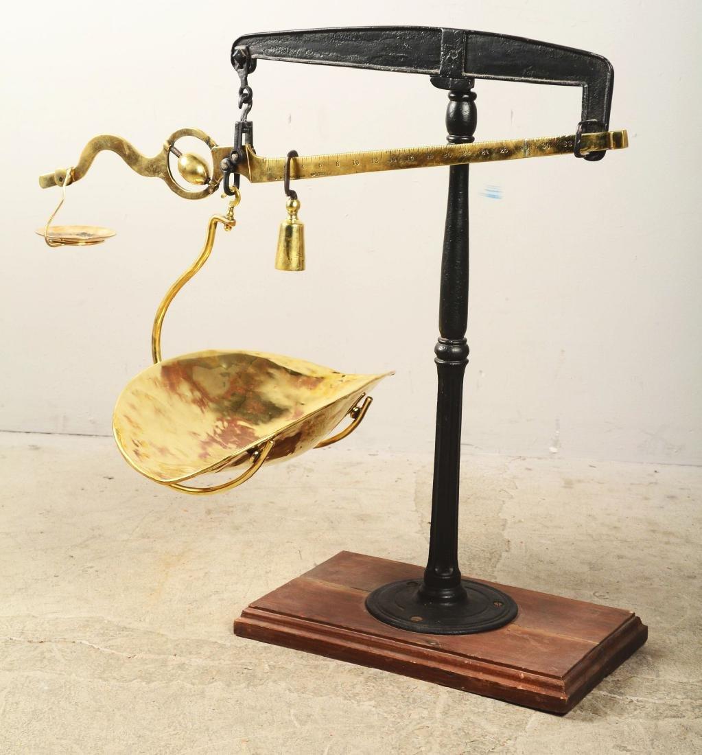 G. Muennighaus Brass Weighing Scale. - 2