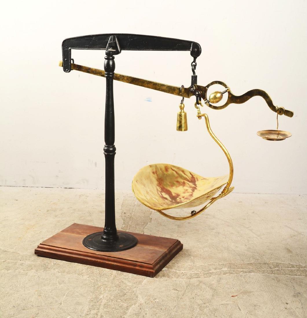 G. Muennighaus Brass Weighing Scale. - 3
