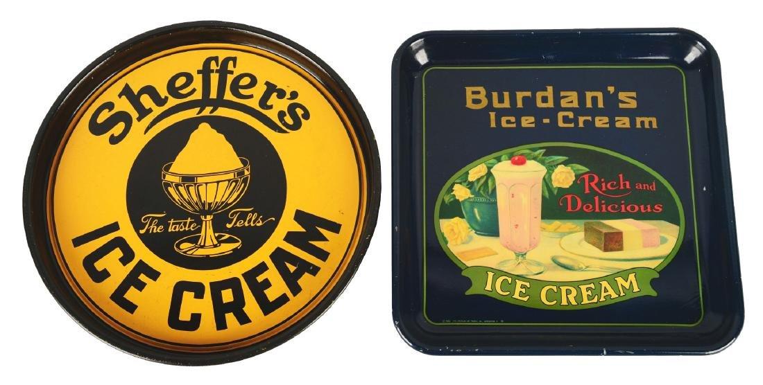 Lot Of 2: Ice Cream Advertising Trays.