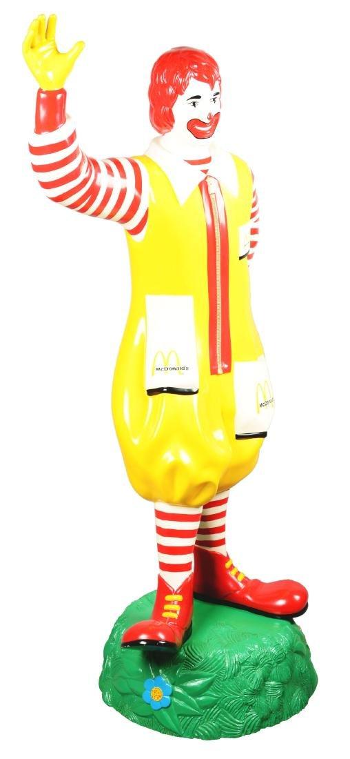 Life-Size Ronald McDonald Fiberglass Statue.