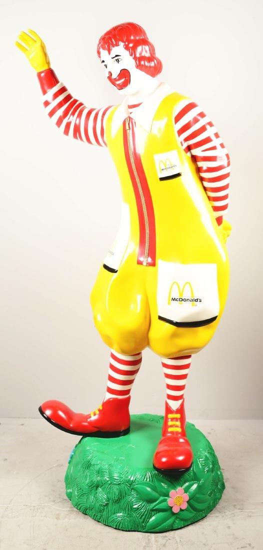 Life-Size Ronald McDonald Fiberglass Statue. - 3