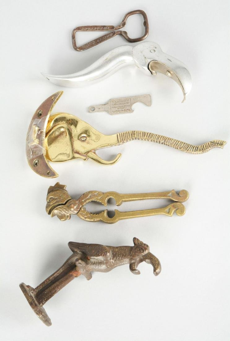 Lot Of 6: Figural Openers And Nut Cracker.