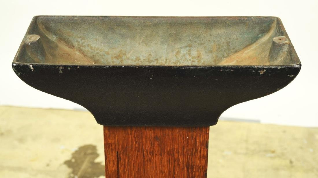 Wood And Cast Iron Stand. - 3