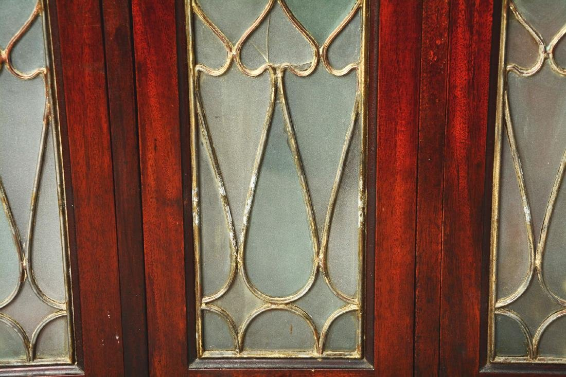 Mahogany Dental Cabinet With Leaded Glass Front Doors. - 4
