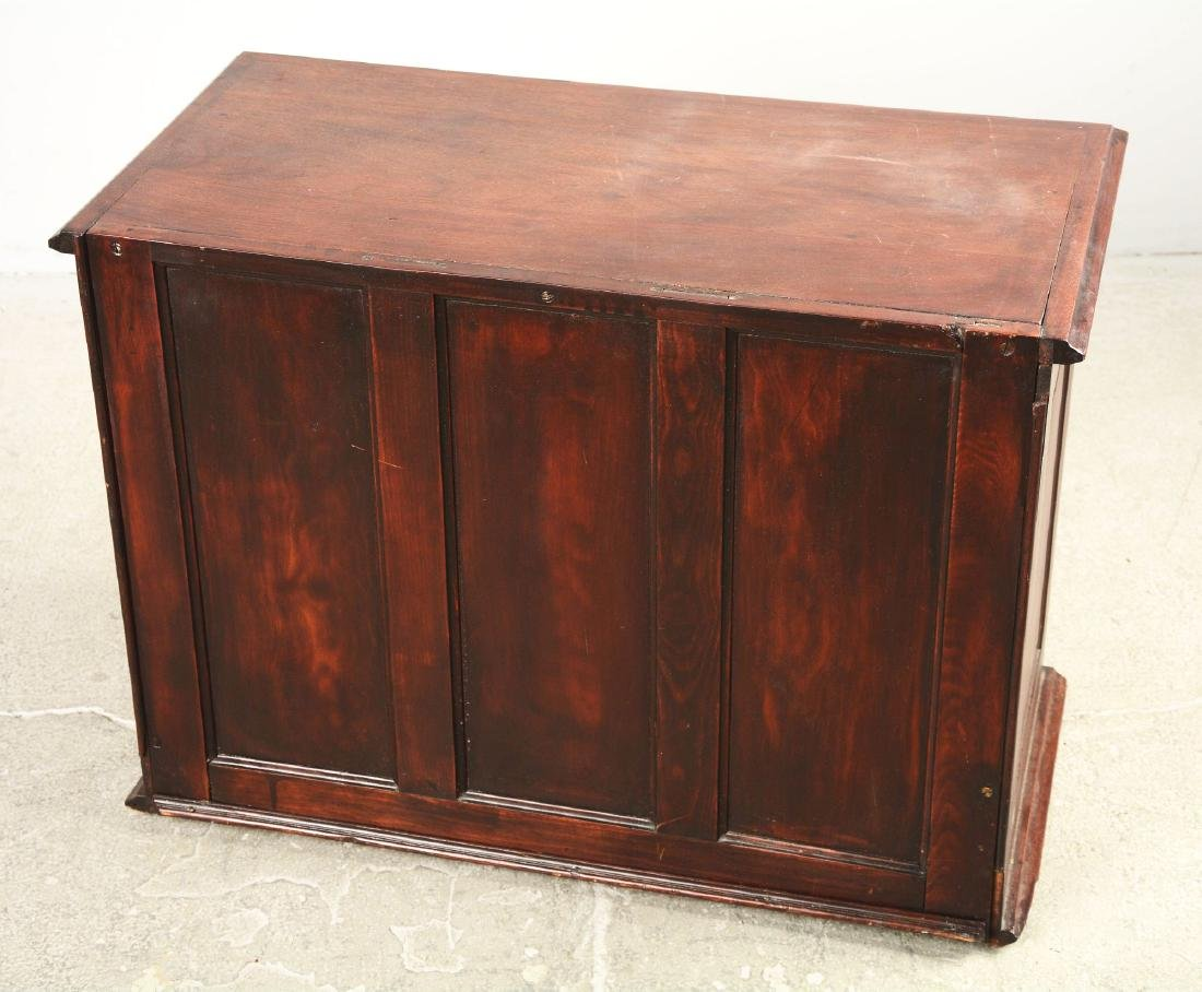 Mahogany Dental Cabinet With Leaded Glass Front Doors. - 5