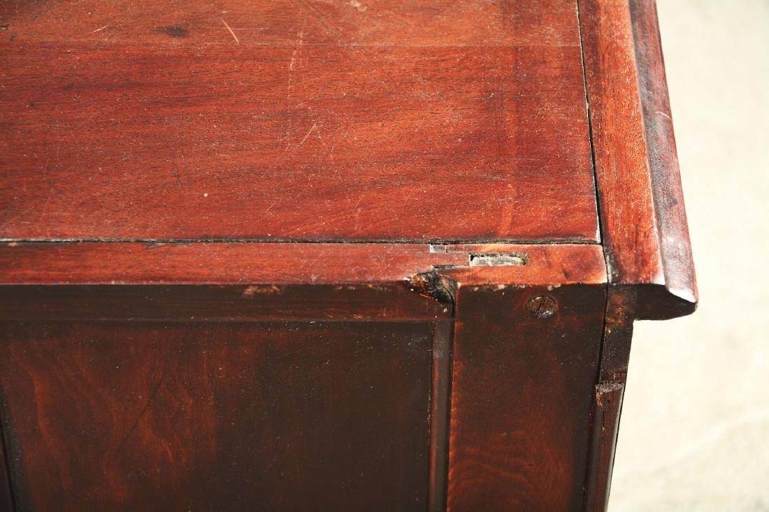 Mahogany Dental Cabinet With Leaded Glass Front Doors. - 6