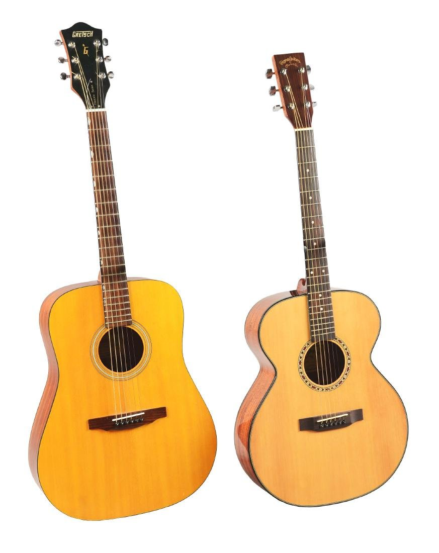 Gretsch Acoustic Guitars >> Lot Of 2 Gretsch And Martin Acoustic Guitars