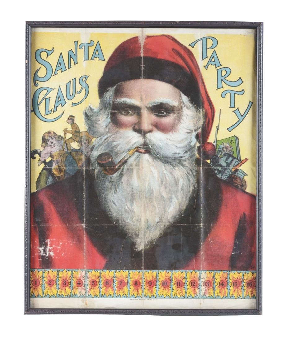 Framed Santa Claus Party.