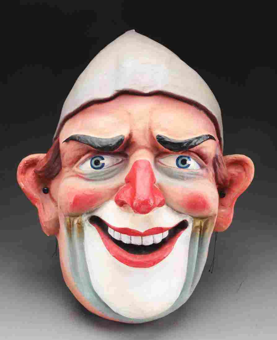 Large Paper Mache Clown Face.