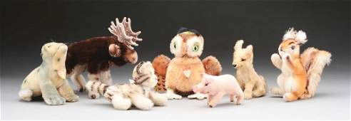 Lot of 7 Steiff Animals