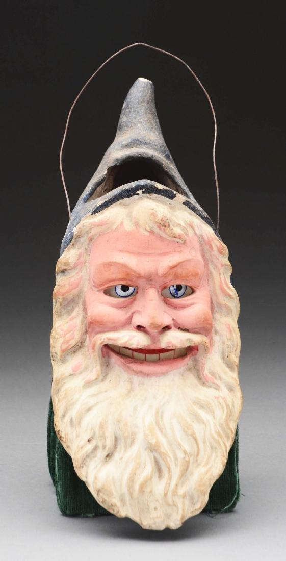 Large Santa Head Composition Lantern.