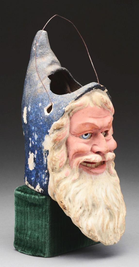 Large Santa Head Composition Lantern. - 2