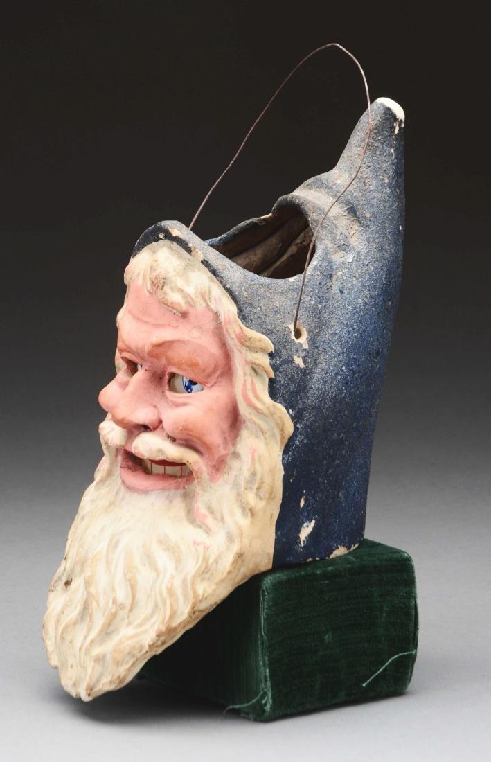 Large Santa Head Composition Lantern. - 3