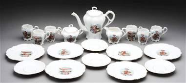Lot Of 19: German Made China Tea Set.