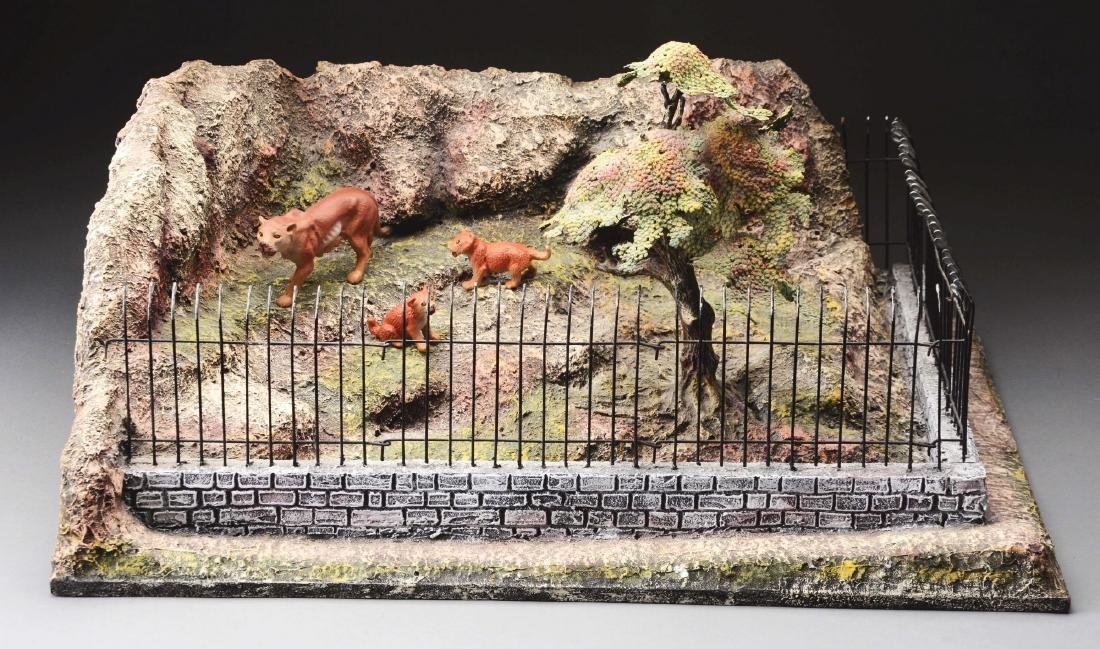 Large Elastolin Zoo Display.